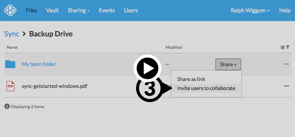 How to use team shared folders