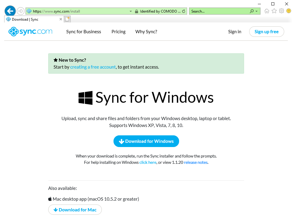 DownloadPage1 | Sync com – Help Desk