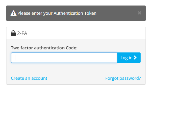 enter authenication code