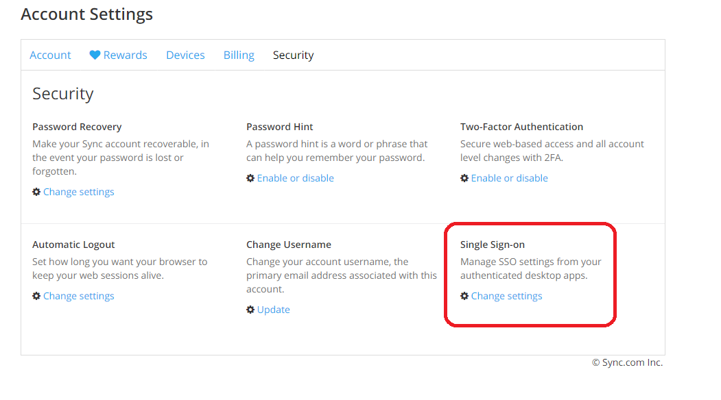 how do i enable and disable single sign on sso