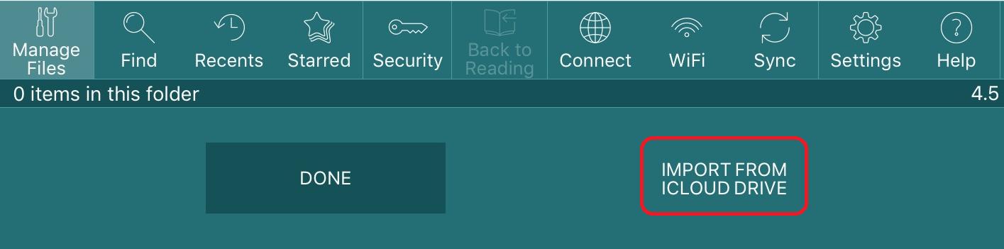 How do I use GoodReader on iOS with Sync?
