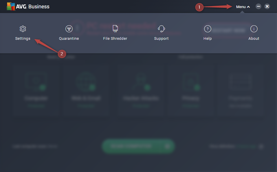 How do I allow Sync to work with AVG?