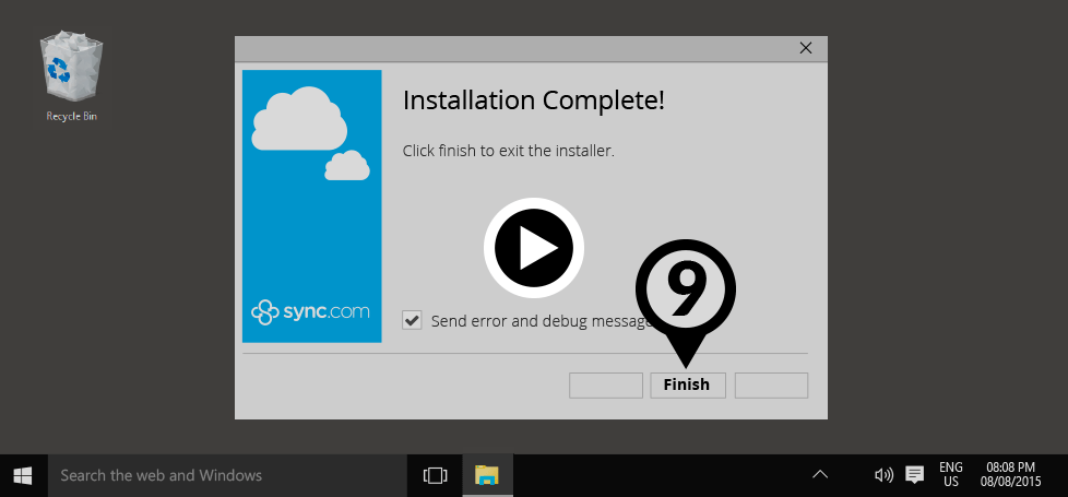 The Sync desktop application