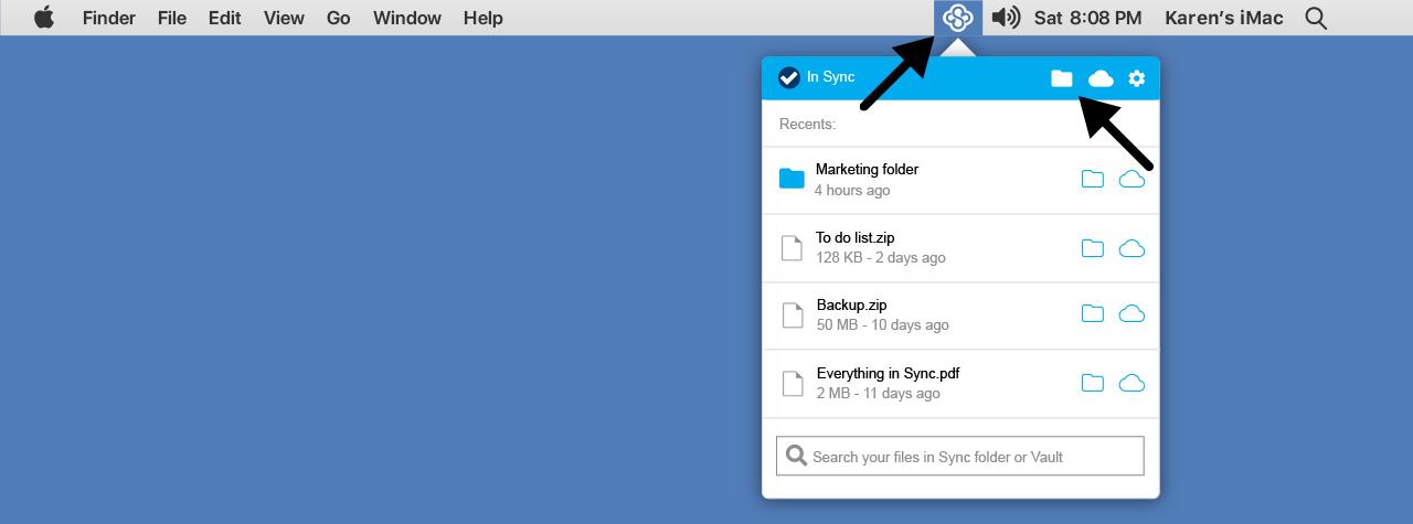 The Sync desktop application